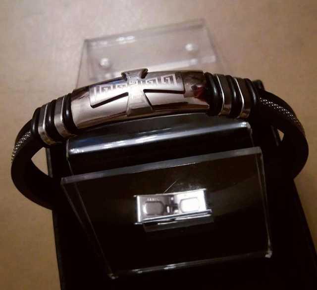 Продам Мужской браслет с крестом Siver Steel