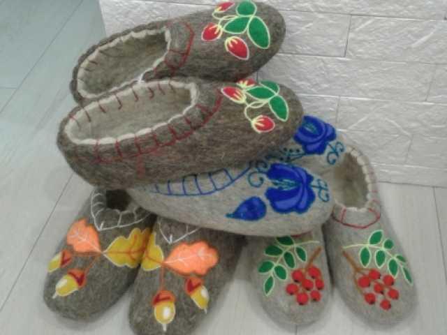 Предложение: Валенки тапочки ручной работы из шерсти
