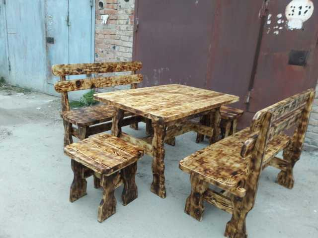 Продам: Столы, лавки из натурального дерева