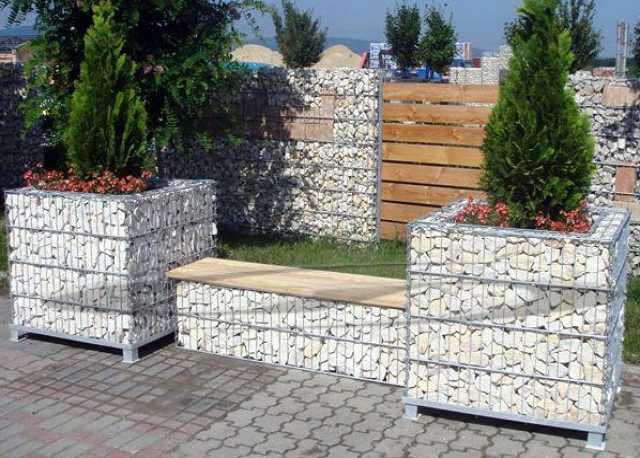 Продам Садово-парковая мебель из габионов.