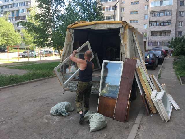 Предложение: Вывоз старых окон после демонтажа