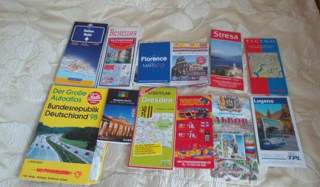 Продам Путеводители и карты стран Европы