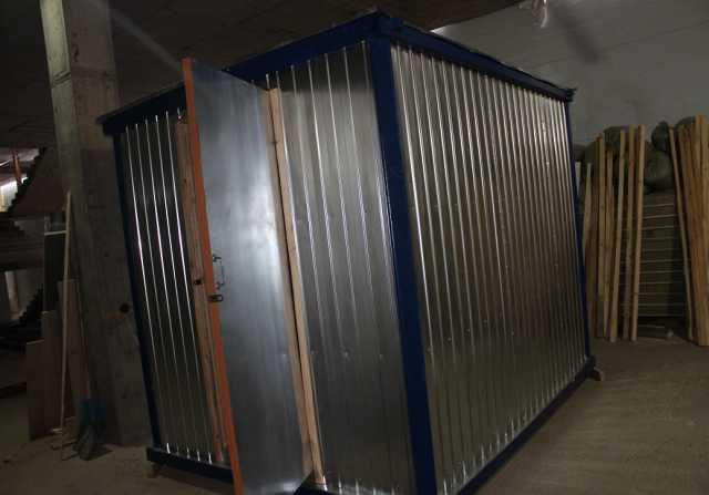 Продам Блок-контейнер бк01 отделка двп, окно пв