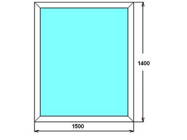 Продам Окно глПВХ 1400*1500 2х кам. ст/п, новое