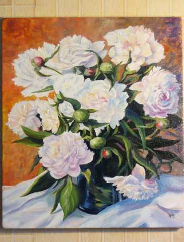 Продам Продам яркую картину с цветами пионы