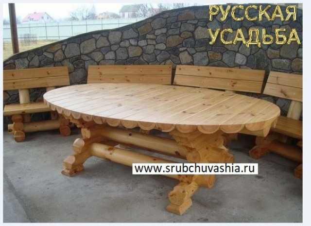 Продам: Мебель из бревна оцилиндрованного
