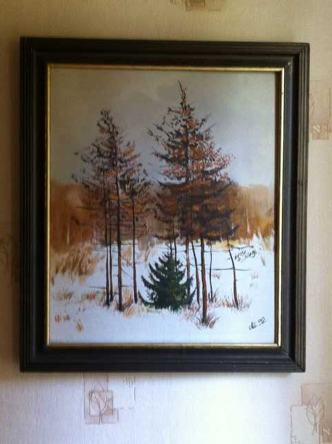 Продам картина шаврин а.и зимний пейзаж 1992 г