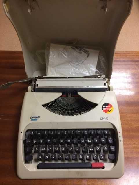 Продам Печатная машинка механическая Optima