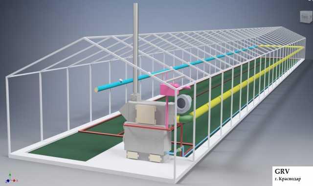 Продам Отопление теплицы вода + воздух 200 - 40