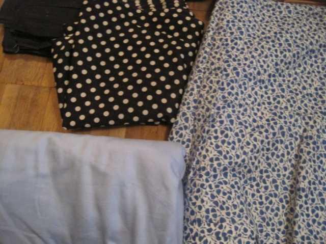 Продам Отрез сине-голубой однотонной плотной тк