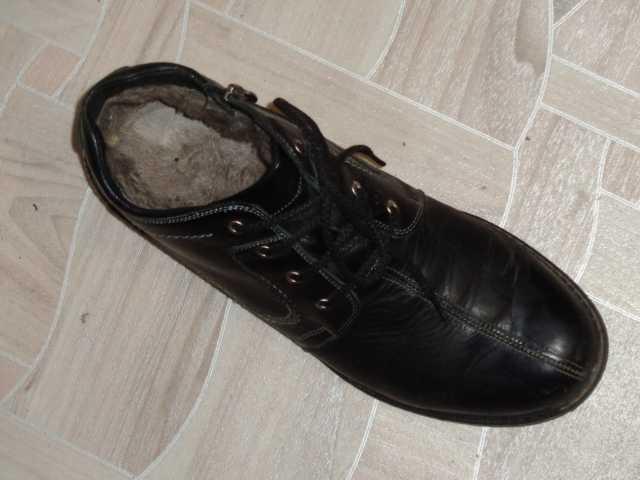 Продам Ботинки зимние мужские на меху,кожа