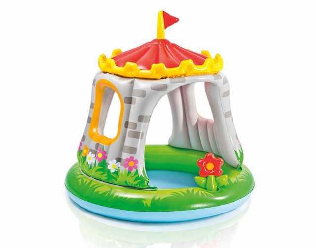 Продам Детский бассейн С навесом intex