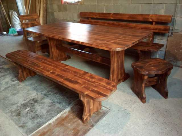 Продам Деревянный стол,стул,лавки,декор