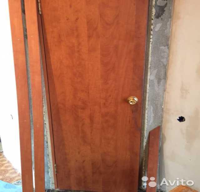 Продам Дверь+доборы+обналичники+замок с ручкой+