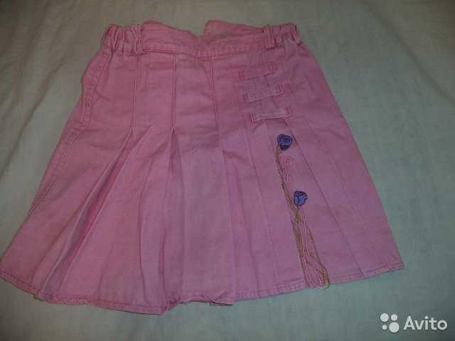 Продам юбку розовую с вышивкой б/у в отл сост