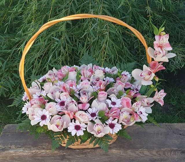Продам Корзина с орхидеями