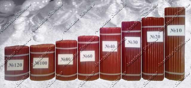 Продам Свечи восковые медовые церковные красные
