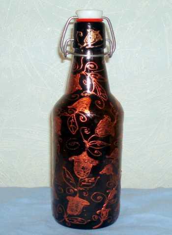Продам Бутылка. Роспись.