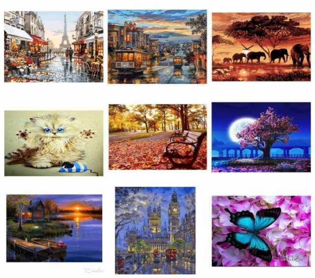 Продам Картины по номерам 40х50
