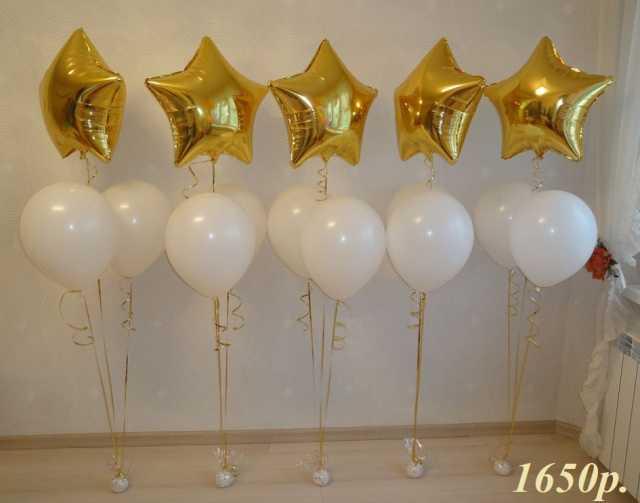Продам Воздушные шары Золотые Звезды