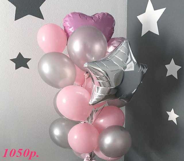 Продам Воздушные шары Серебро и Розовый