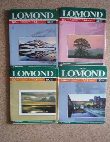 Продам Фотобумага lomond (не полные упаковки).Ц