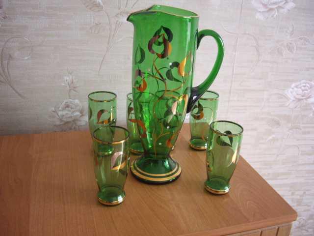 Продам: Графин и 6 стаканов из Чехословакии