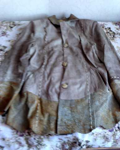 Продам Куртка кожаная коричневая