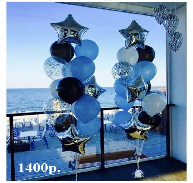 Продам Воздушные шары Серебро и Черно-голубой ф