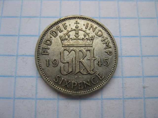 Продам: Монета 6 пенсов серебро