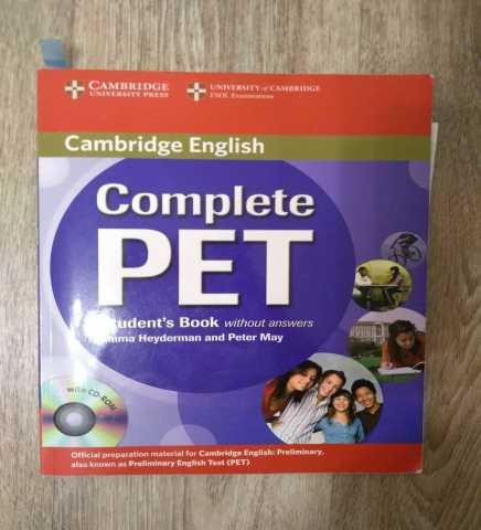 Продам учебник по английскому Complete PET