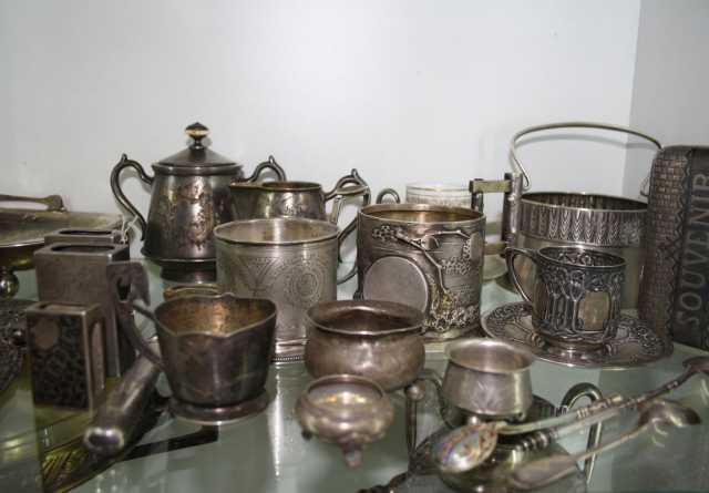 Куплю любые изделия из серебра и мельхиора