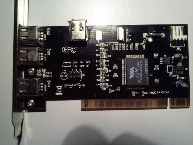 Продам PCI котроллер с интерфейсом IEEE 1394