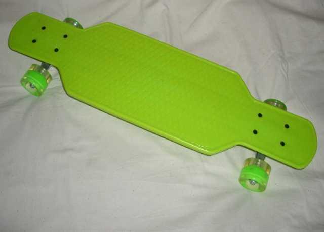 "Продам Скейтборд Plastic Board Long 28"" со свет"
