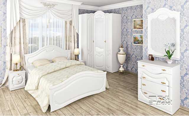 Продам белая спальня Орхидея