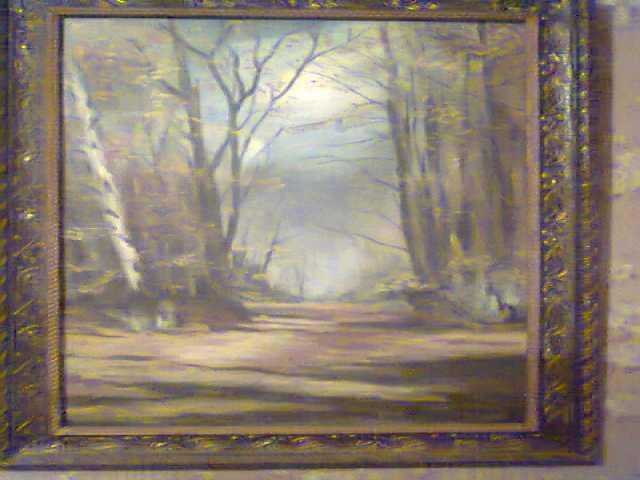 Продам Картина маслом Осень в лесу (СССР)