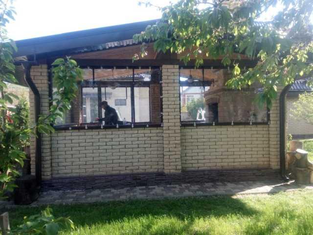 Предложение: Мягкие окна Прозрачные шторы беседки