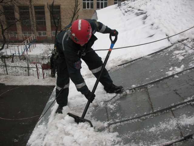 Предложение: Уборка с крыш сосулек и снега
