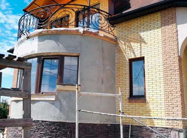 Предложение: Фасад дома отделаем утеплим оштукатурим