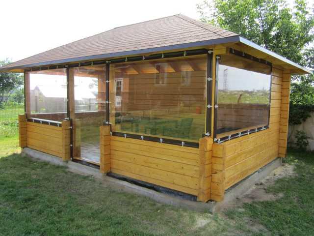 Предложение: Мягкие окна Прозрачные шторы для беседки