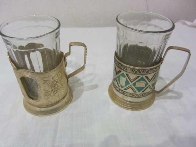 Продам Подстаканники со стаканами (СССР)
