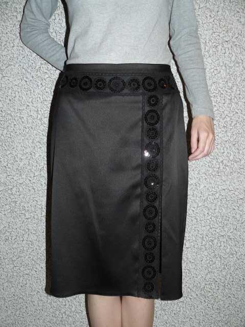 Продам Черная юбка с разрезом