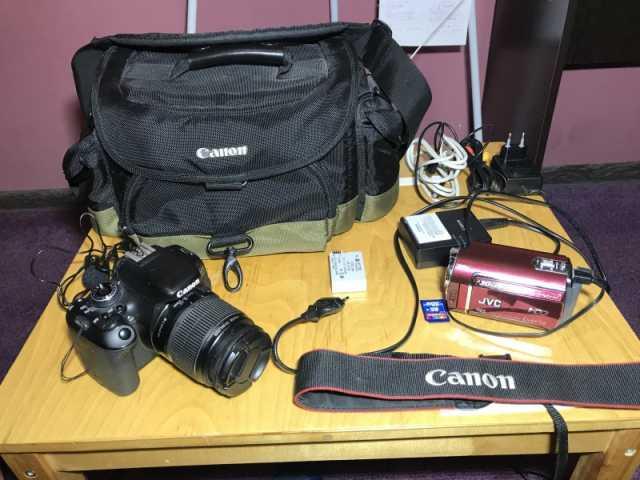 Продам Conon 600D + Камера JVC