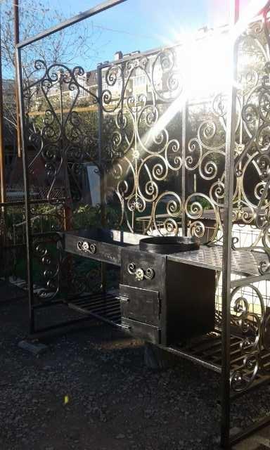Продам Мангал, кран декор, печь для казана