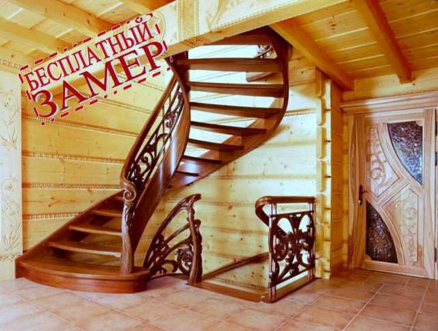 Продам Деревянные лестницы изготовление, монтаж