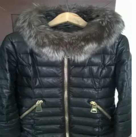 Продам: женское пуховое пальто из эко кожи