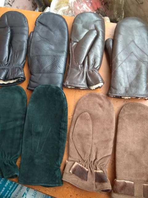 Продам Рукавицы кожаные зимние. 4 пары