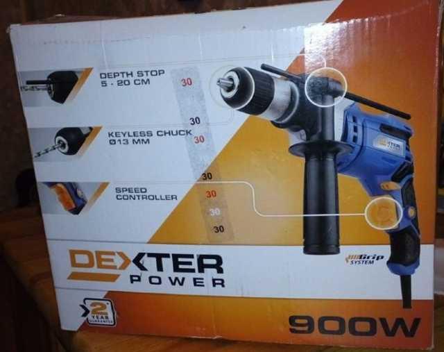 Продам Дрель сетевая ударная Dexter 900 Вт
