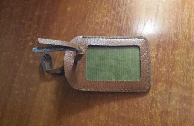 Продам На сумку или чемодан Бирка бэджик корич