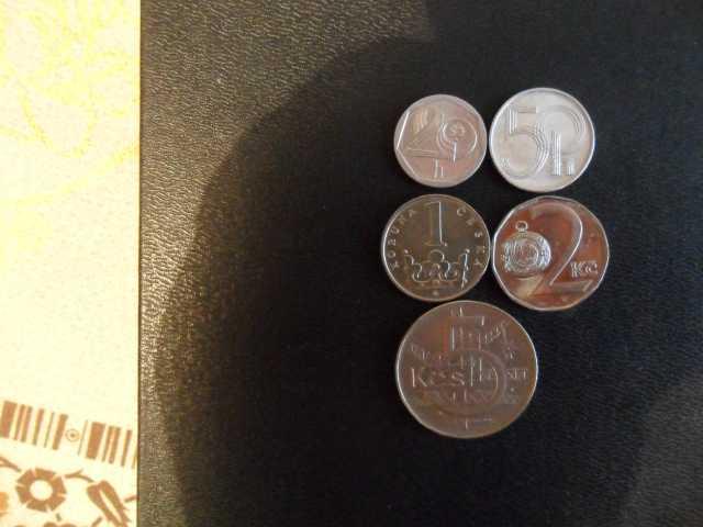 Продам Монеты Чехии.5 штук,1991,1993гг.выпуска